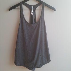 Lululemon 105 F Singlet   Gray Stripe   Size 2